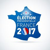 2017 French presidential election illustration - in french. EPS 10