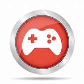 stock photo of video game controller  - Game controller icon - JPG