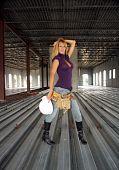 Sexy Blonde Construction Worker
