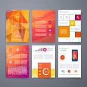 Templates. Vector flyer, brochure, magazine cover template can use for print and marketing. Applicat