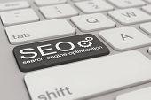 Keyboard - Search Engine Optimization - Black