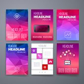 Design Template Set for Web, Mail, Brochures. Mobile, Technology, App ui and Infographic Concept.
