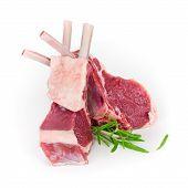 rare lamb ribs