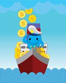 Captain Blue dolphin.