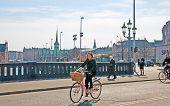 Denmark. Copenhagen. High Bridge in the center of the city