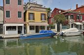Boats Parked In Murano Canal
