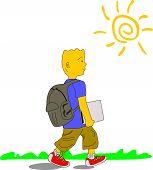 Kid Goes To School