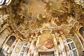 The Prunk Saal In Bruchsal Castle, Germany