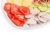 Warm meat salad