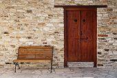 Door and bench