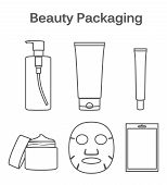 Beauty Packaging linear symbol