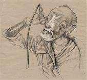 Singer - The Goat - Vector Illustration (converted)