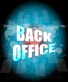 Word Back Office On Digital Touch Screen