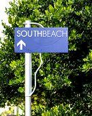 South Beach Street Sign In Miami Beach