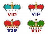 Crowns with VIP sign