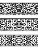 Decorative ornate vintage borders