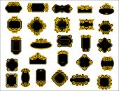 Black and yellow borders or frames