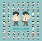 Set Of Business Man Characters