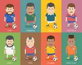Set Of National Soccer Team Uniform , Football Player