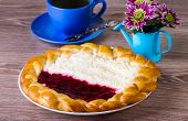 Cottage Cheese And Jam Pie