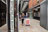 Spitalfields Market entrance, London