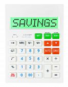 Calculator With Savings