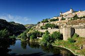 Tajo River And The Alcazar, Toledo, Spain