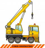 pic of heavy equipment  - Detailed illustration of crane heavy equipment and machinery - JPG