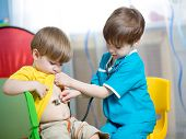 children boys play doctor