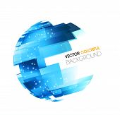 Abstract technology digital lines vector background. Globe concept