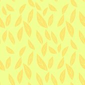 Hand Drawn Vector Illustration. Abstract Foliage Seamless Pattern Background