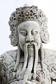 Old Man Statue In Chinese Style