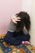 picture of abused  - Unhappy Young Girl - JPG