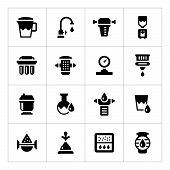 Set Icons Of Water Filters