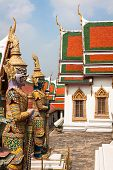 stock photo of guardian  - Demon Guardian in Wat Phra Kaew Grand Palace Bangkok - JPG