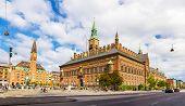 foto of city hall  - View of Copenhagen city hall  - JPG