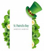 foto of leprechaun hat  - Leprechaun hat clover and gold coins - JPG