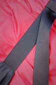 Bag Strap On A Red Shirt Of Teenage