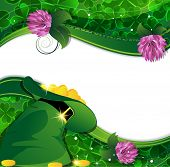 picture of leprechaun hat  - Leprechaun hat clover and gold coins - JPG
