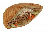 Doner Kebab Sandwich With Beef Meat