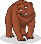 High Quality Brown Bear Vector Cartoon Illustration