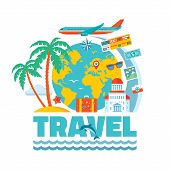 Travel - vector illustration concept in flat design style