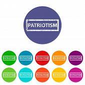 Patriotism flat icon
