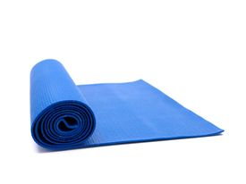 pic of yoga mat  - An exercise mat isolated against a white background - JPG