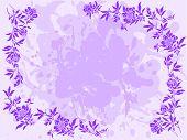 Lilac Floral Frame