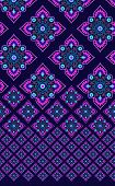 stock photo of mexican  - seamless horizontal pattern with vetical placement layout - JPG