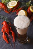 foto of crawfish  - beer with crawfish close - JPG