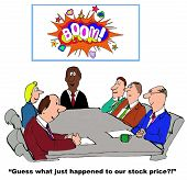 stock photo of guess  - Business cartoon of business meeting - JPG