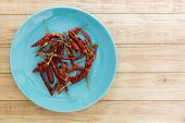 foto of chillies  - Red dried chilli is one of Thai food - JPG