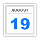 foto of august calendar  - August 19 - JPG
